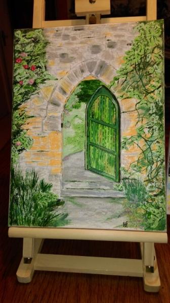 Tableau Peinture Porte Architecture Maison La Porte Verte Ouver N