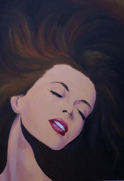 Tableau Peinture Portrait Femme Eveil