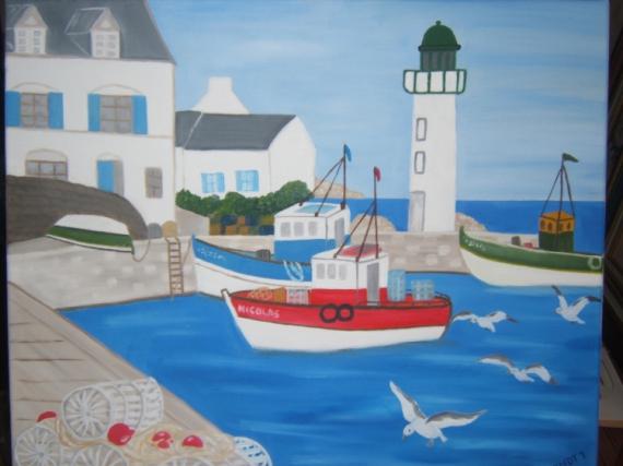 Tableau Peinture Ports Peche Port De Peche