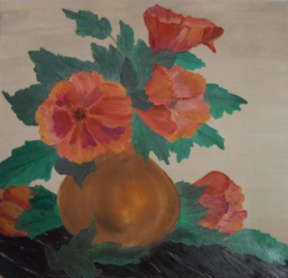 Tableau Peinture Pot Fleur Toile Peinture Pot De Fleurs
