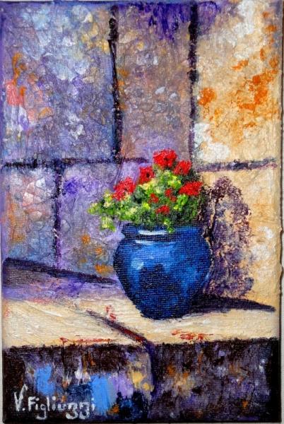 Tableau Peinture Pot Fleurs Provence Le Pot