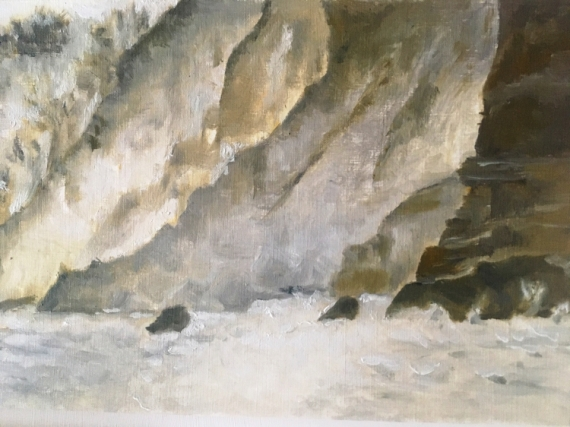 TABLEAU PEINTURE roches nature sauvage minéral Paysages  - Ambiance (30x18)