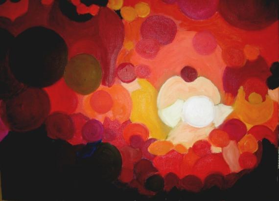 Tableau Peinture Soleil Rouge Coucher Coucher De Soleil