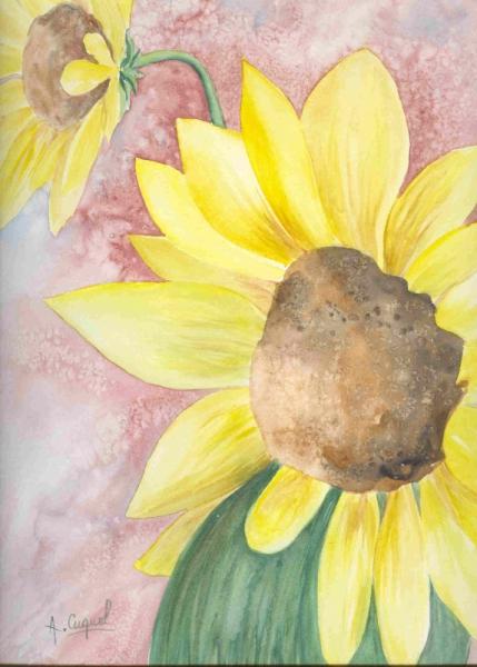 Tableau Peinture Soleil Tournesol Ete Fleur Tournesol 3