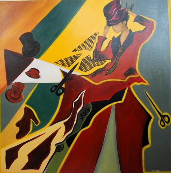 Tableau Peinture Tableau Acrylique Abstrait Femme Modele