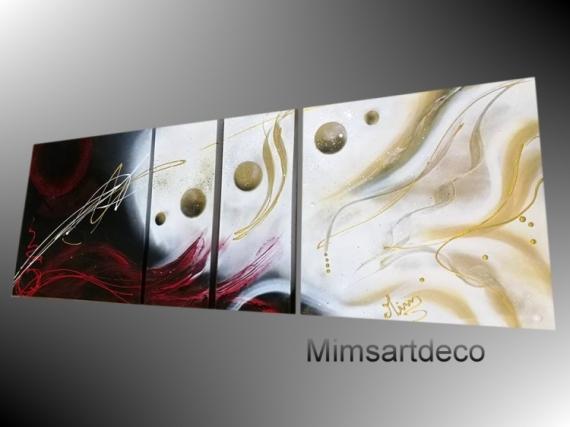 Tableau Peinture Tableau Moderne Tableau Mural Tableau Rouge