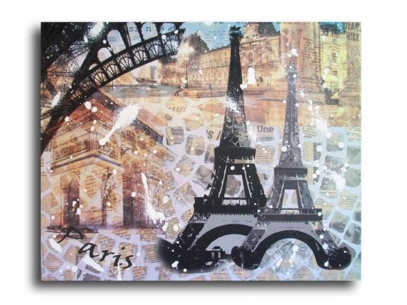 Tableau Peinture Tableau Paris Eiffel Marron Tableau Paris Tour