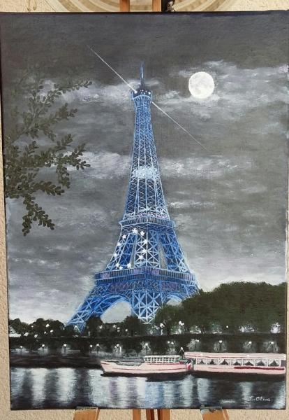 Tableau Peinture Tour Eiffel Tour Eiffel