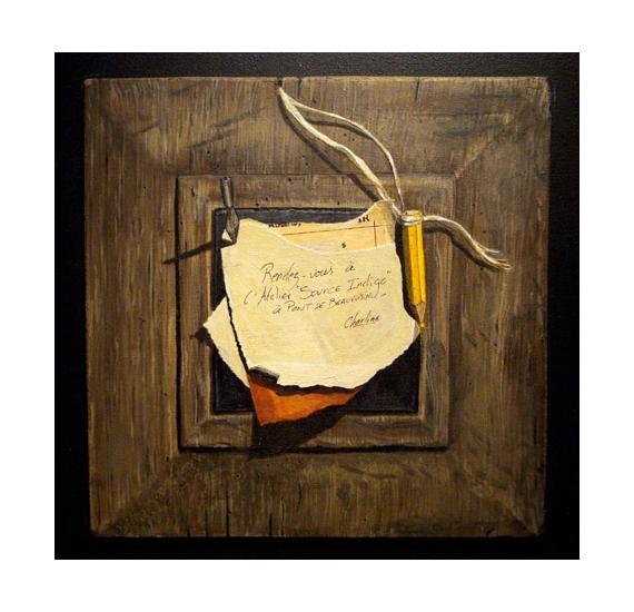 Tableaux Peinture Trompe Oeil tableau peinture trompe l'oeil - rendez-vous
