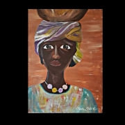 tableau personnages africaine : JAHIA