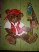 tableau personnages chambre garcon ourson : Ourson Pirate