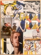 tableau personnages collage roy lichtenstein pop art portrait : Around Roy