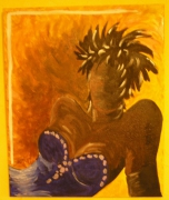 tableau personnages femme africaine sensualite personnage : FEMME AFRICAINE
