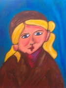 tableau personnages fille picasso sage blonde : simone
