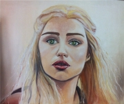 tableau personnages game of thrones danerys emilia clarke fantastique : Daenerys