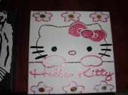 tableau personnages hello kitty toile peinture personnage : HELLO KITTY