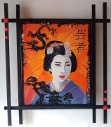 tableau personnages japon geisha : made in japan