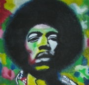 tableau personnages : Jimi Hendrix