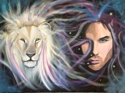 tableau personnages lion ian somerhalder animal vampire : Connection