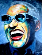 tableau personnages ray charles jazz blues : ray