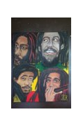 tableau personnages reggae kingston marley rasta : DAMIAN MARLEY by SLN