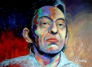 tableau personnages serge gainsbourg musique jazz : Gainsbar