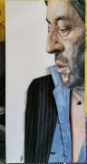 tableau personnages serge gainsbourg toile peinte huile textile : Serge Gainsbourg