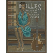 tableau personnages singer blues jazz painting peinture blues : KINDHEARTED WOMAN