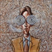 tableau personnages street art buffard surrealisme : Hypnotic Man
