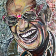 tableau ray charles amerique couleur noir : Ray Charles