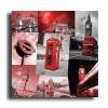 Tableau - Tableau toile collage photos londres rouge design