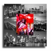 Tableau - Tableau toile collage photos new york usa rouge noir design mode