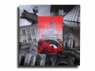 Tableau - Tableau toile collage photos paris tour eiffel rouge noir design