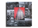 Tableau - Tableau toile collage photos tokyo japon rouge noir design moder