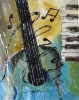 Tableaux d'art - guitare clavier