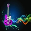 Tableaux d'art - guitare elec